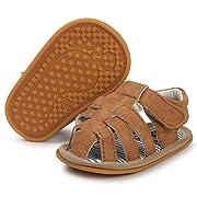 Baby Boys Girls Summer Sandals Soft Sole Anti-Slip Toddler First Walker Infant Newborn Crib Shoes, 0-6 Months Infant, 01 Brown Baby Sandals