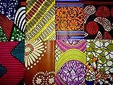 Lot de 8 Tissus Coton Wax Motifs africains - 20cm x 35cm - pour Patchwork, Quilting, Loisir Créatifs