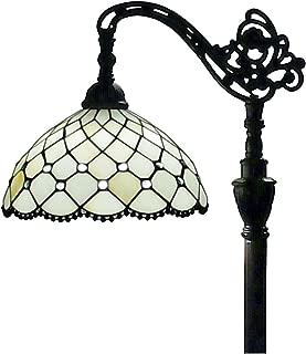 Amora Lighting Tiffany Style Floor Lamp Jeweled Beaded Arched 62