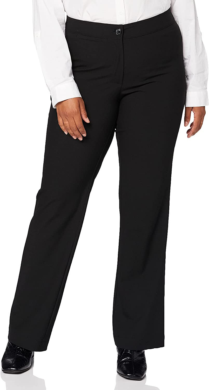 Ulla Popken Women's Plus Size Straight Leg Stretch Pants Black 16 701852 10