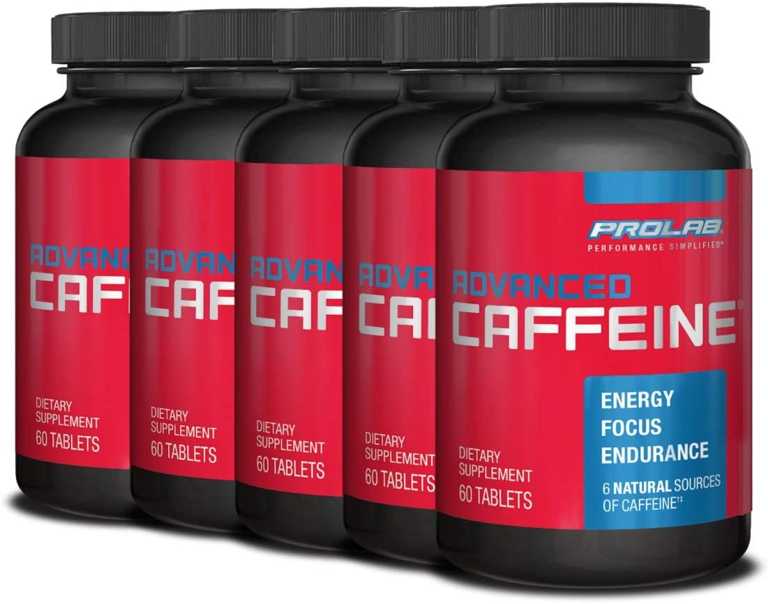 PROLAB Advanced Caffeine Chicago Mall Tablets Pack 70% OFF Outlet 60-Count 5 of