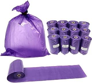 KEEMOI Dog Poop Bags, Leak-Proof Doggie Waste Baggies, Biodegradable Poop Bags for Dogs, 12 Rolls Purple Unscented Pet Waste Disposal Refill Bags