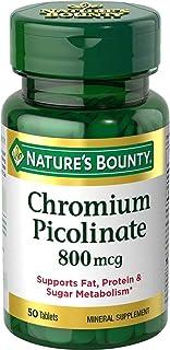 Nature's Bounty Mega Chromium Picolinate 800 mcg tablets 50 ea (Pack of 2)