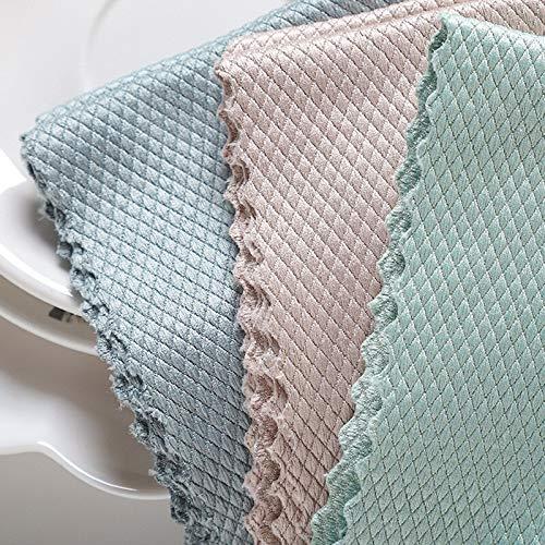 Lavavajillas toalla de cocina paño de limpieza para ventana de vidrio coche piso trapos tazón plato cerámica azulejo limpie plumero herramienta de limpieza casera