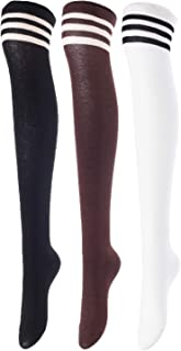 Women's 3 Pairs Cute Knee-Length Cotton Boot Socks Size 6-9 T1022-3p