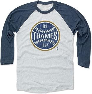 500 LEVEL Eric Thames Baseball Tee - Unisex Adult - Milwaukee Baseball Raglan Shirt - Eric Thames Milwaukee Ball