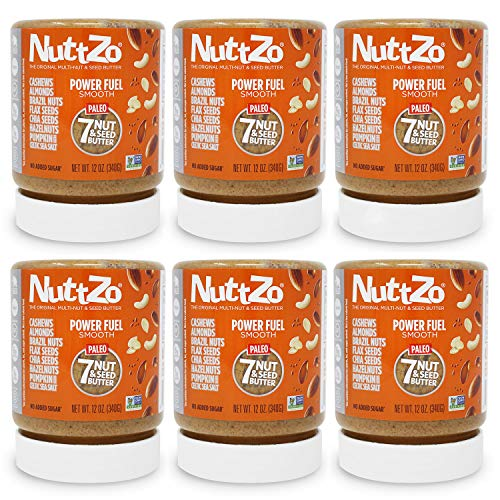 NuttZo Power Fuel Smooth, Natural 12 Ounce (Pack of 6)