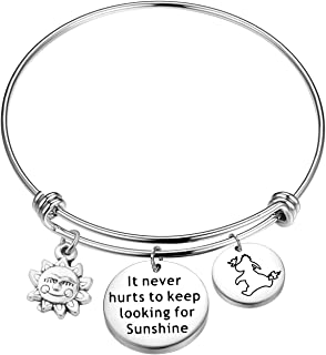 It Never Hurts to Keep Looking for Sunshine Bracelet Eeyore Quote Bracelet Inspiration Gift