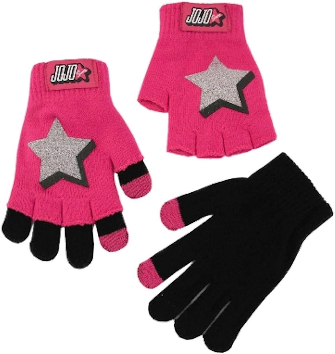 JoJo Siwa Girls Star 2-in-1 Knit Gloves