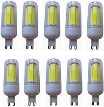 SGJFZD G9 LED Light Bulb No Dimmable, 8W(50W Halogen Equivalent 3000K Warm White/6000K Cool White G9 Base Bi Pin 10-Pack (...