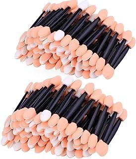 Amariver 200 Pack Disposable Eyeshadow Brush Sponge Tipped Oval Makeup Tool Dual Sides Eyeshadow Brush Comestic Applicator...