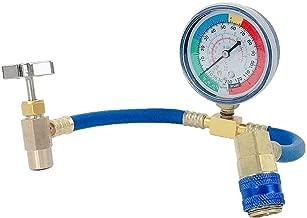 Festnight Man/ómetro de refrigerante Conjunto de herramientas de aire acondicionado con manguera y gancho para R12 R22 R404A R134A