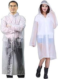 Malvina Combo of Black Rainsuit and Transparent Raincoat