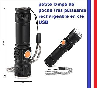 Lampe De Poche Led Puissante Le Plus Puissant 18 T6 Led Torche Led Lampe De Poche 3 Modes De Charge Usb Lampe Portable Pour Le T/él/éphone De Charge Power Bank