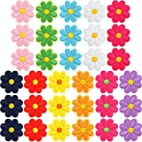 33 Pieces Flower Applique Patches Iron On Flower Patches Embroidered Repair Patches Mixed Color Decorative Patches for Clothes Dress Plant Hat Jeans