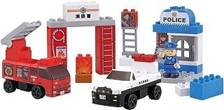 BlockLabo ブロックラボ ビークルブロック パトカーと消防車ブロックバケツ