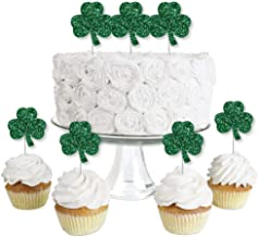 St. Patrick's Day - Dessert Cupcake Toppers - Saint Patty's Day Party Clear Treat Picks - Set of 24