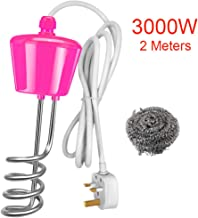 2m//2500w 2500W Water Heater Element Boiler Suspension Immersion with 2Meter Thickened Copper Wire UK Plug