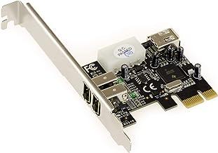 Carte de Capture vid/éo PCI-E vers 1394 PCI Express vers contr/ôleur dadaptateur Externe IEEE 1394 Plug and Play Carte Firewire pour Win7//8//10//Mac OS Tangxi Carte dextension PCI-E Firewire