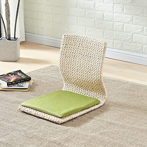 NanXi Japanische Legless Boden Stuhl, Holzstuhl Tatami Meditation Erker Sessel faul Couch für TV Lesen,B,380 * 430 * 430mm