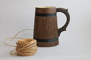 Wooden Beer Mug 0.7 l (23oz) natural wood handmade groomsmen gift beer tankard groom gift