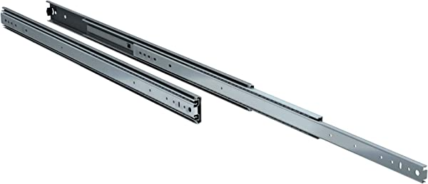 TCH Hardware 28 Heavy Duty 250 Lb Drawer Slides 2 1 4 X 3 4 Wide Steel Full Extension Over Travel