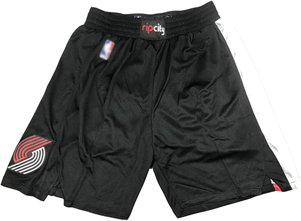 Mens Sports Embroidery Basketball Fan Shorts Sports Technology Fabric Breathable mesh Quick-Drying Repeatable Cleaning WAIY Portland Trail Blazers Basketball Shorts