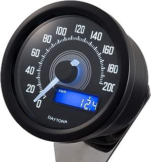 Daytona x Velona - Motorcycle Speedometer 200 MPH/KMH Liquid Crystal Display (Black) (92249)