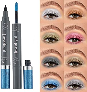 Kisshine Liquid Eyeshadows Pearlescent Eyeshadow Blue Shimmer Non-Stick Eye Shadow Costume Party Eye Makeup Gift for Women...
