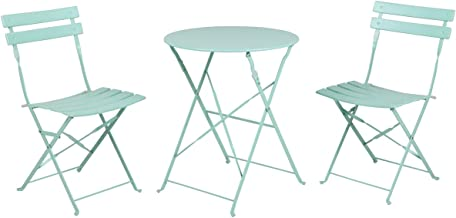 Grand patio Premium Steel Patio Bistro Set, Folding Outdoor Patio Furniture Sets, 3 Piece Patio Set of Foldable Patio Tabl...