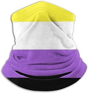 Lsjuee Mezza, ghetta, copricapo resistente, bandana, sciarpa tubolare, passamontagna, bandiera non binaria Pride scaldacol...