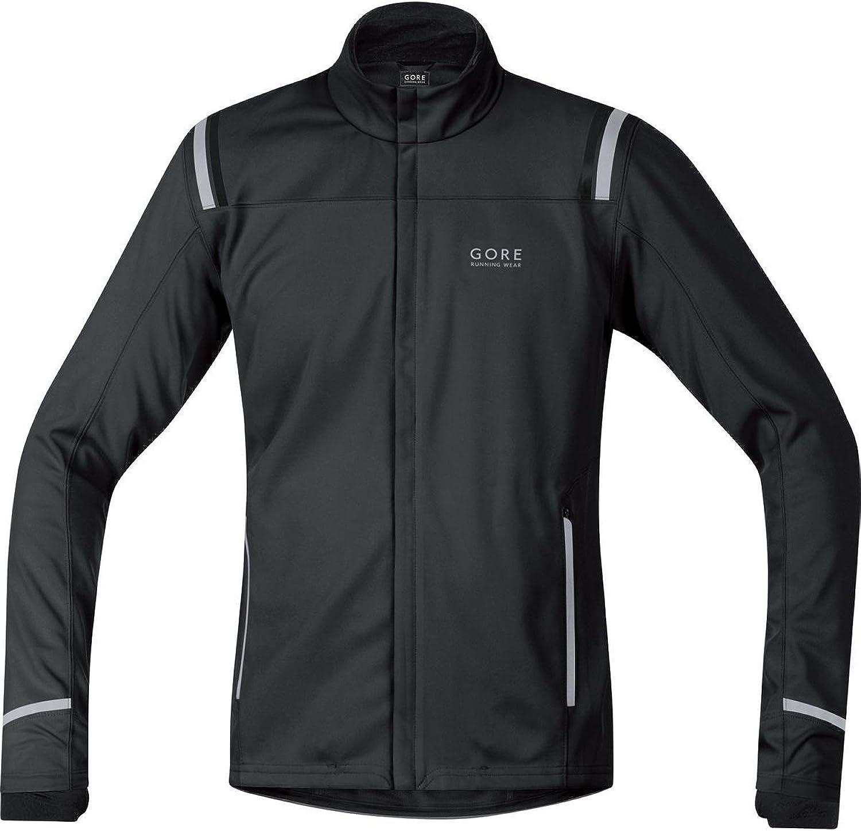 (Small, Black  black)  Gore Running Wear Mythos 2.0 Windstopper Soft Shell Men's Jacket