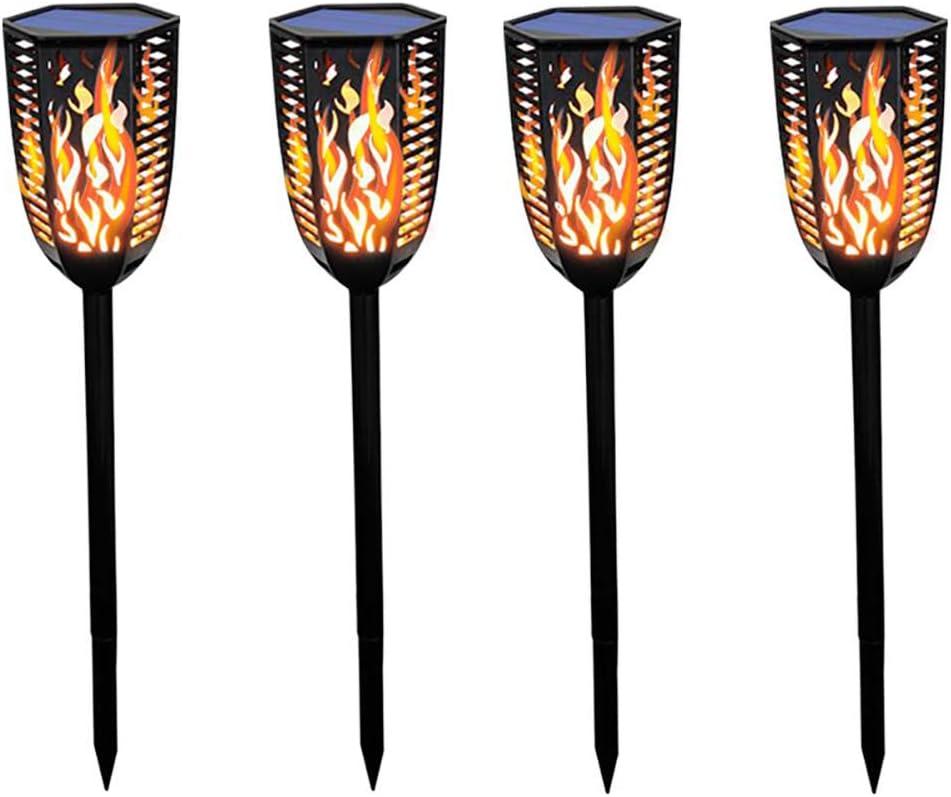 Douup Virginia Beach Mall 4 Bombing free shipping Pack Solar Torch Lights Lands Garden Dancing for Flames