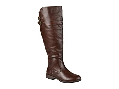 Journee Collection Tori Boot Extra Wide Calf (Brown) Women