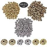 JNCH 300pcs 6mm Perles Tibetains Intercalaires Rondelle Dorée Bronze Argent Antique Mixte Perles Espaces Separateur en Métal pour Création de DIY Bijoux Breloque Collier Bracelet