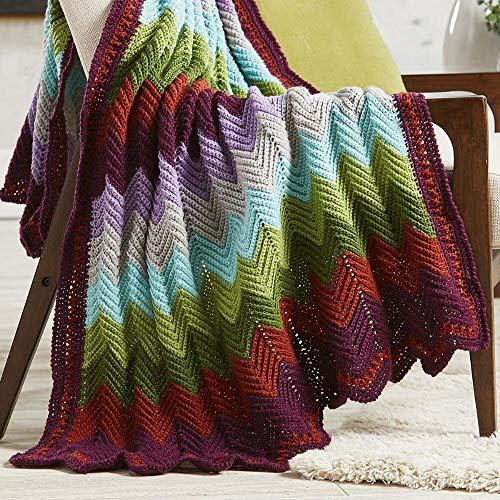 Herrschners Lovely Landscapes Ripple Crochet Afghan Kit