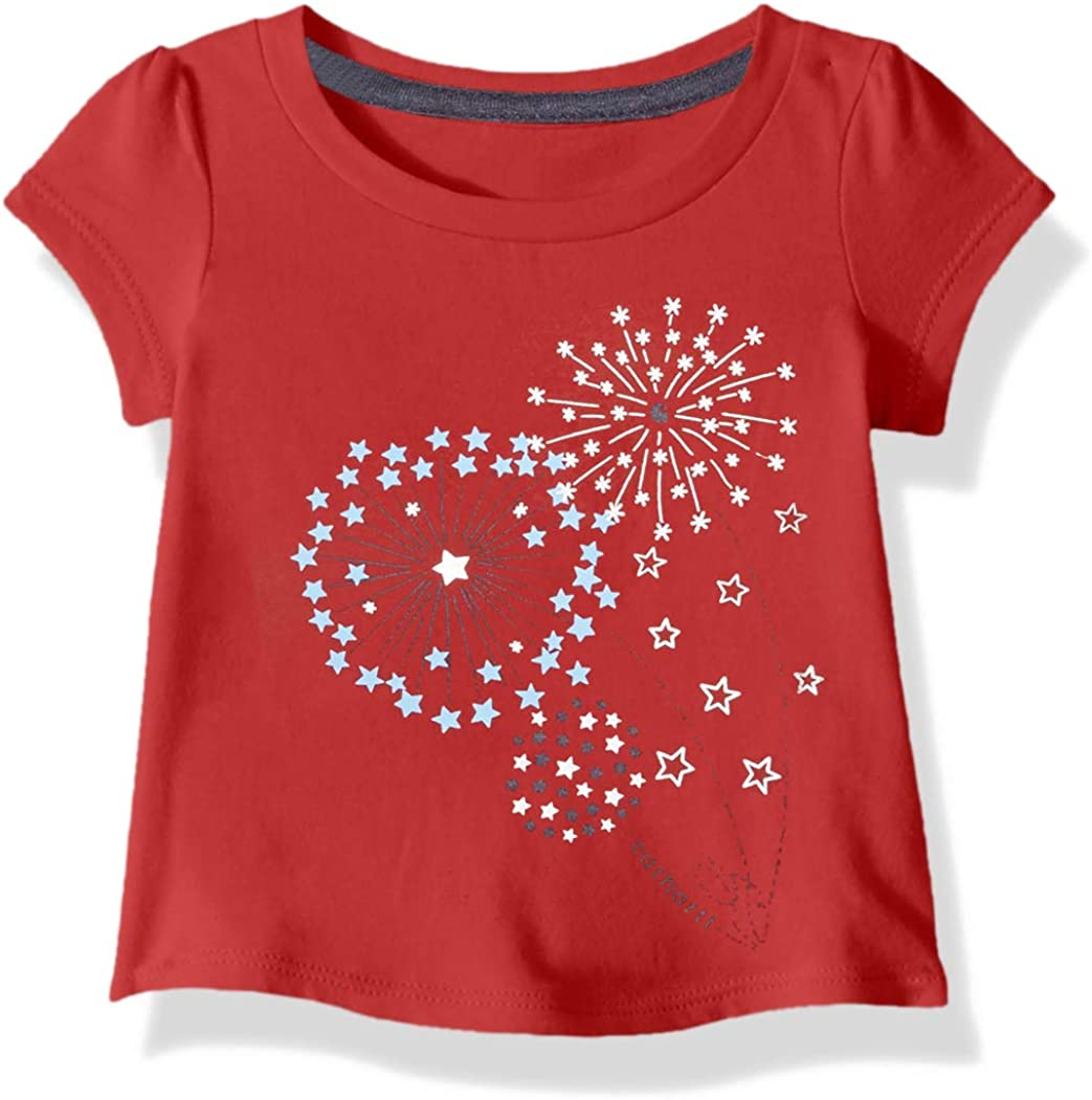 Carhartt Baby Girls Short Sleeve Cotton Graphic Tee T-Shirt