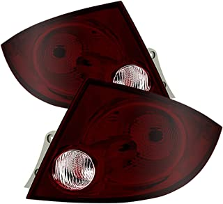 VIPMOTOZ For 2005-2010 Chevy Cobalt Sedan OE-Style Smoke Red Lens Tail Light Housing Lamp Assembly Replacement Driver & Passenger Side