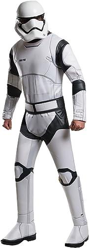 diseño único Star Wars - Disfraz deluxe caballero Stormtrooper- 3piezas- 3piezas- 3piezas- Mono, cinturón y máscara-Color blanco  precios bajos todos los dias