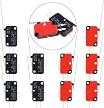 Swpeet 10Pcs V-153-1C25 Micro Limit Switch Long Hinge Roller Momentary Cherry Push Button SPDT Snap Action Perfect for Arduino, Appliance and Electronic Equipment