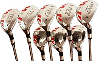 "iDrive Hybrids Senior Men's Golf All Complete Full Set, which Includes: #3, 4, 5, 6, 7, 8, 9, PW Senior Flex with Premium Men's Arthritic Grip Right Handed Utility ""A"" Flex Clubs"