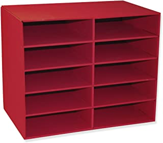 Classroom Keepers 10-Shelf Organizer, Red (001314)