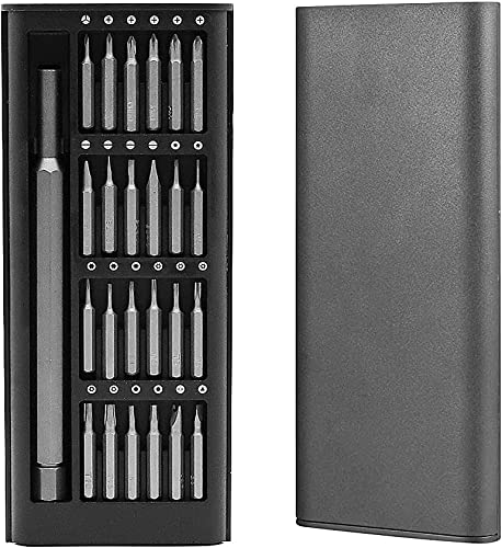 HASTHIP 25 in 1 Precision Screwdriver Set Mini Screw Driver Tool Box 24 Bits with Plastic Case for Mobile Phone Laptop Watch Computers Electronic Glasses Repair Hardware Items for Home