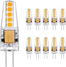 10 Pack G4 3W LED Lamp, 10X 2835SMD, 220LM, 12V AC/DC, Warm White Energy Saving G4 Bulb 360 Beam Angle LED Light Bulb
