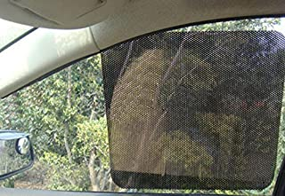 Car Sunshade Sticker, Rainbowrose Reusable Perforated Static Cling Vehicle Screen Windshield Film for Baby Kids UV Protection(Pack of 2) (16.5X12.4