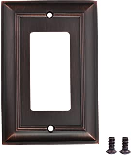 AmazonBasics AB-6000 Single Gang Wall Plate, 1, Oil Rubbed Bronze, 3 Pack