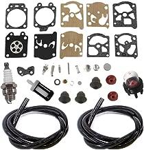 AISEN Carburetor Repair Rebuild Kit for Stihl FS36 FS40 FS44 FS44R FS50 FS50C FS56 FS70 FS70C FC56 FC70 HT56C KM56C KN56RC Trimmers Grommet Fuel Line Filter Spark Plug