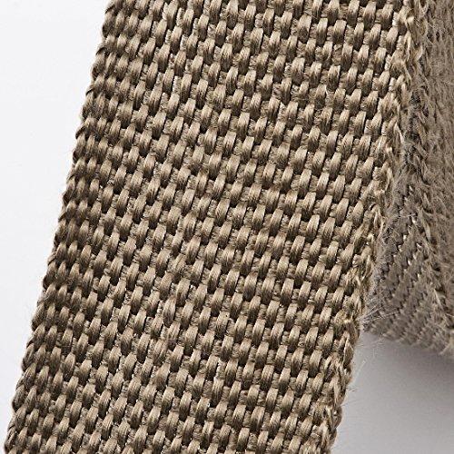 Arlows 15m Titan Hitzeschutzband (Breite: 50mm) + 10 V2A Kabelbinder (Länge 250mm)