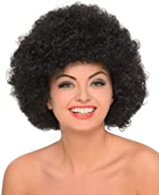 70s Afro Wig, Halloween Womens Disco Funky Big Fro Hair Costume Accessory, Black