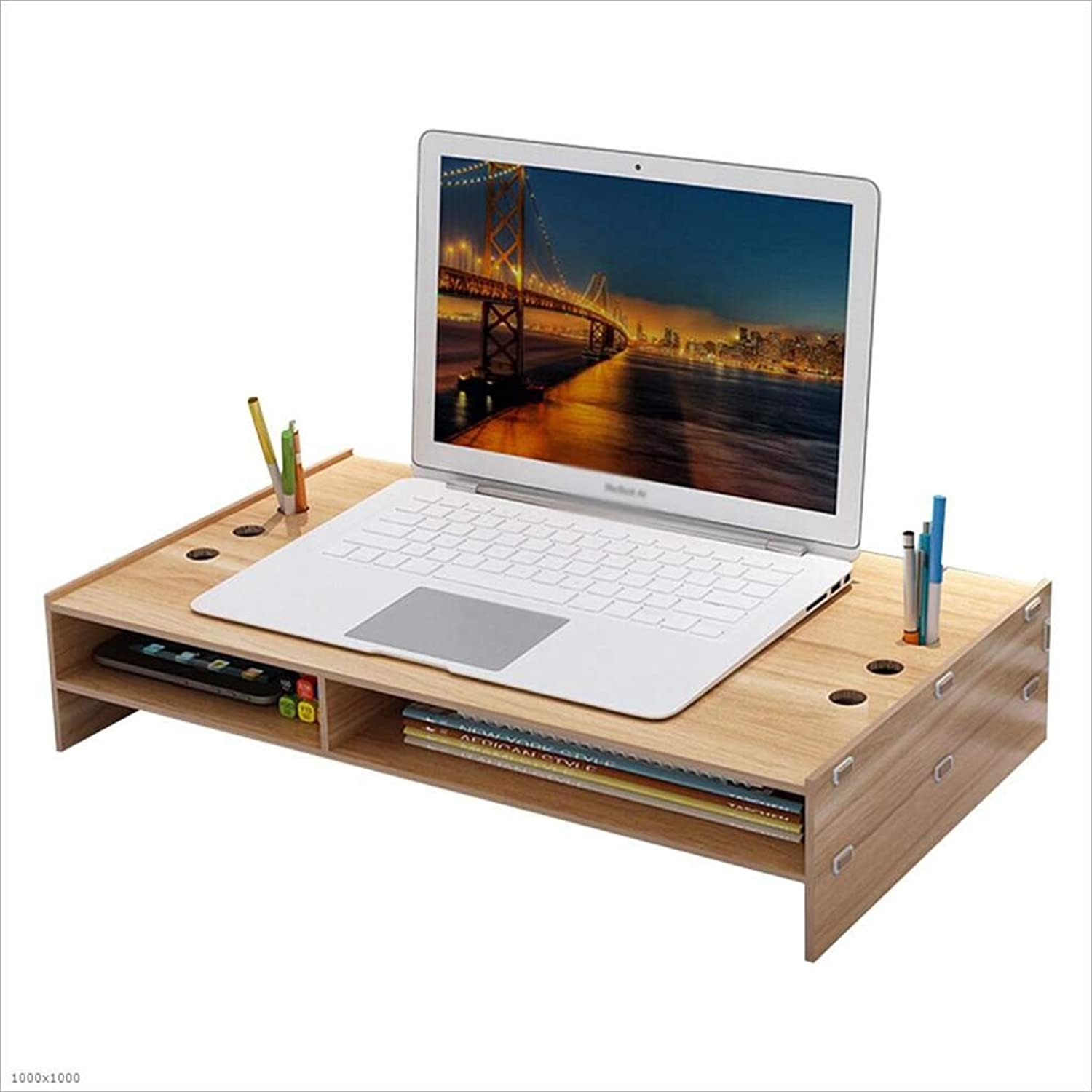 Laptop Monitor Screen Increase Bracket Office Desktop Storage Box Keyboard Storage Shelf,A